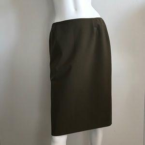 PRADA Dark Military Green Pencil Skirt (R.$575)